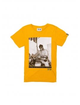 Tee shirt hero seven ocre
