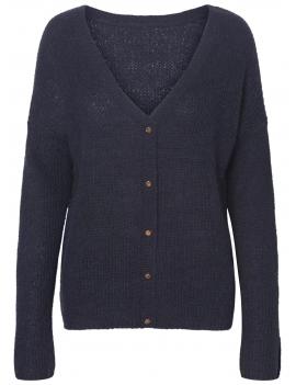 Pull en laine V et boutons dans le dos