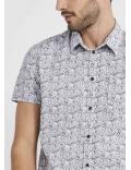 Chemise homme manches courtes imprimée