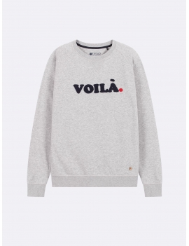 SWEAT VOILA EN COTTON GRIS