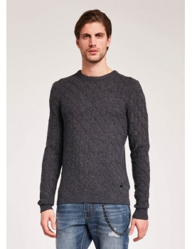 Pull en maille chiné