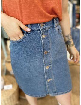 Jupe en jeans taille haute