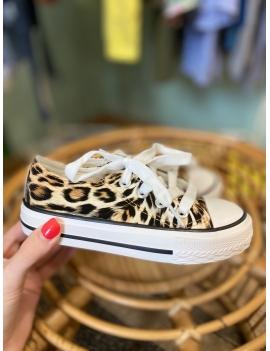 Baskets léopard fille