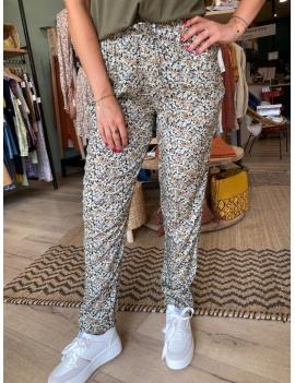 Pantalon imprimé floral regular fit