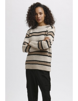 Pull en maille à rayures