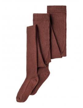 Collants épais marron