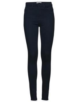 Jeans taille haute bleu marine