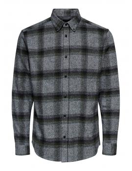 Chemise en coton à carreau