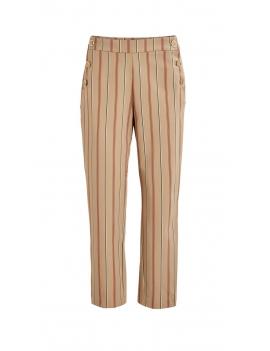 Pantalon taille haute à rayures